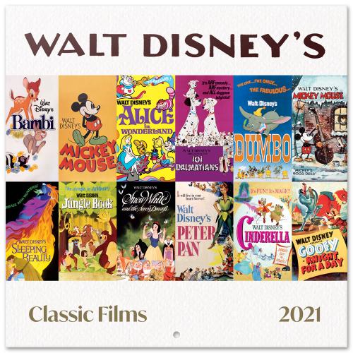 DISNEY - Classics films - Calendrier 2021 '30x30cm'
