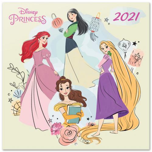 DISNEY - Princess - Calendrier 2021 '30x30cm'