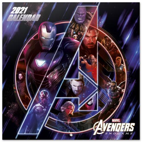 MARVEL - Avengers Endgame - Calendrier 2021 '30x30cm'