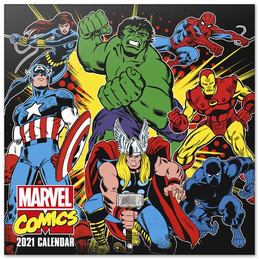 Calendrier Marvel 2021 ShopForGeek | MARVEL   Comics   Calendrier 2021 '30x30cm