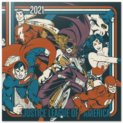 DC COMICS - Justice League of America - Calendrier 2021 '30x30cm'
