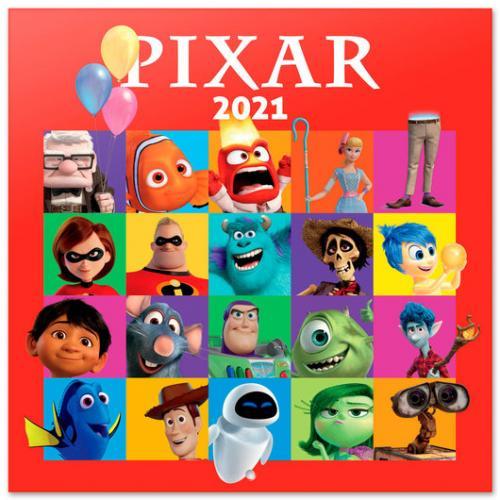 PIXAR - Movies - Calendrier 2021 '30x30cm'