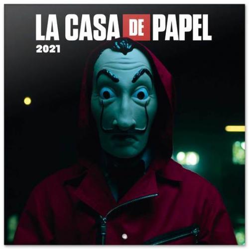 LA CASA DE PAPEL - Calendrier 2021 '30x30cm'