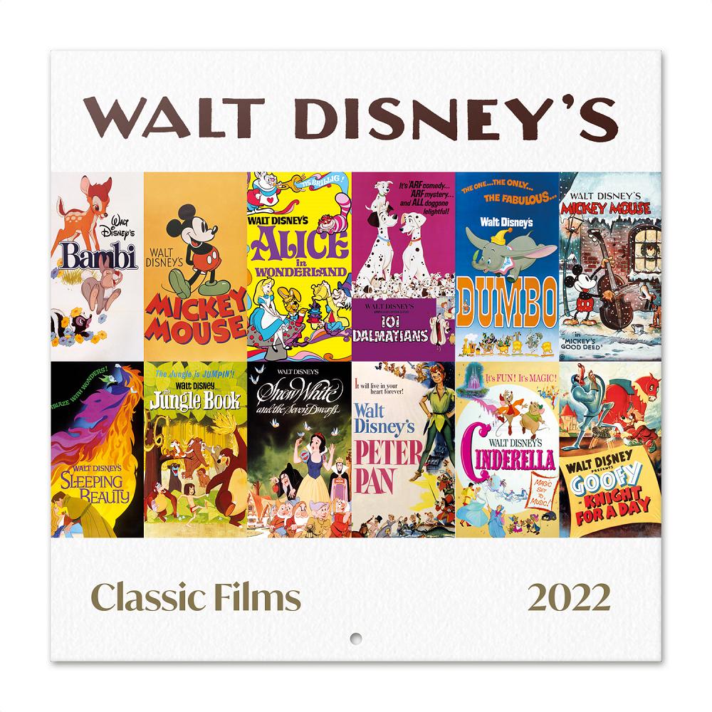 Calendrier 2022 Disney ShopForGeek | DISNEY   Classic Films   Calendrier 2022 '30x30cm