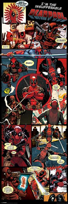 DEADPOOL - Poster de porte - Panels - 53x158