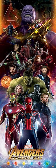 AVENGERS - Poster de porte - Infinity War Characters - 53x158