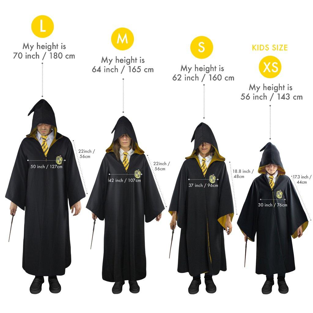 Shopforgeek Harry Potter Robe De Sorcier Poufsouffle S 4895205600263 Harry Potter Cosplay 84 99