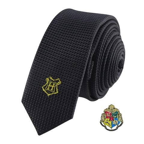 HARRY POTTER - Cravate Deluxe - Poudlard avec Pin's