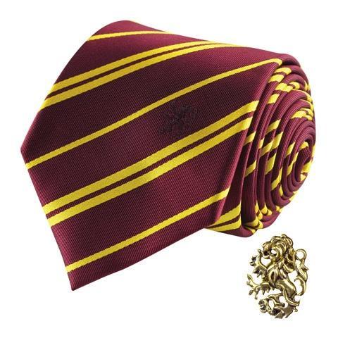 HARRY POTTER - Cravate Deluxe - Gryffondor avec Pin's