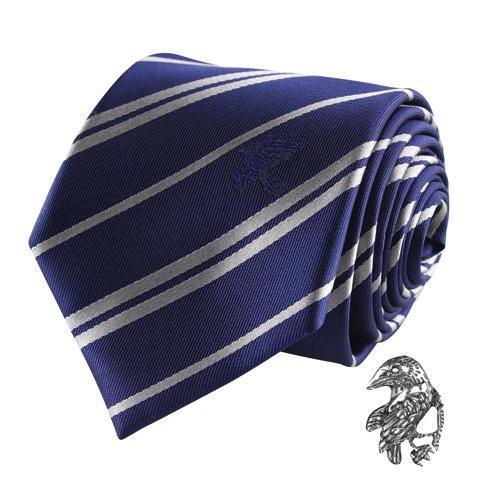 HARRY POTTER - Cravate Deluxe - Serdaigle avec Pin's