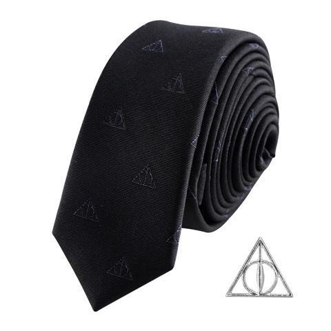 HARRY POTTER - Cravate Deluxe - Les Reliques de la mort avec Pin's