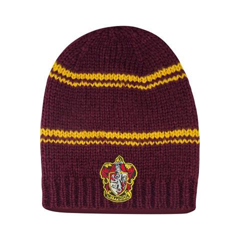 HARRY POTTER - Bonnet Long Slouchy Gryffondor Pourpre et Or