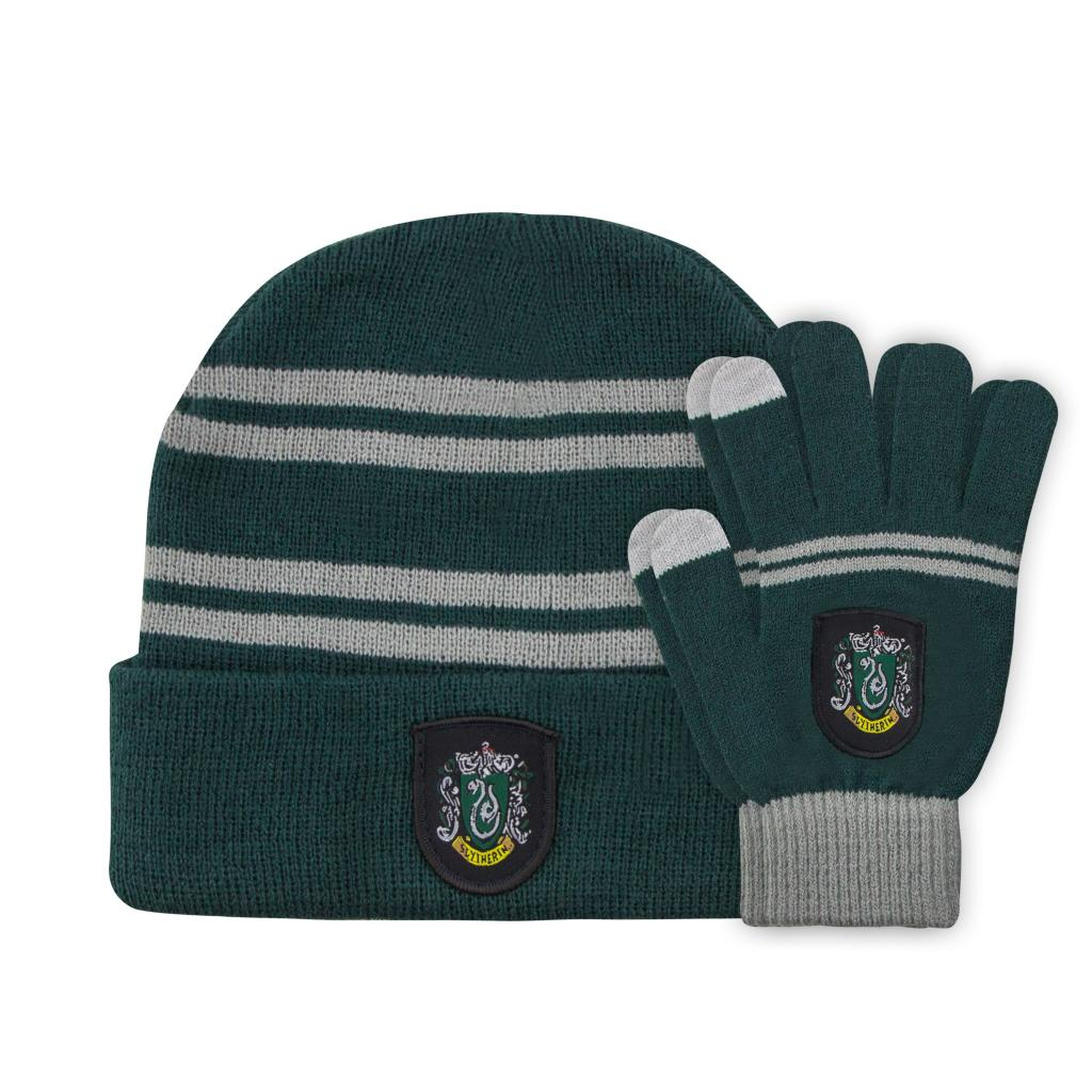HARRY POTTER - Set Enfant Gants Tactiles & Bonnet - Serpentard