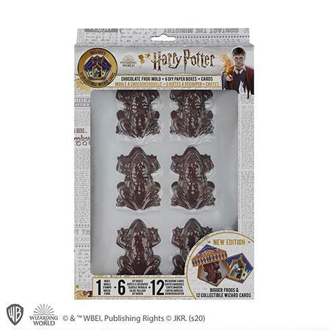 HARRY POTTER - Moule à chocogrenouille + 6 boîtes + 6 cartes sorciers