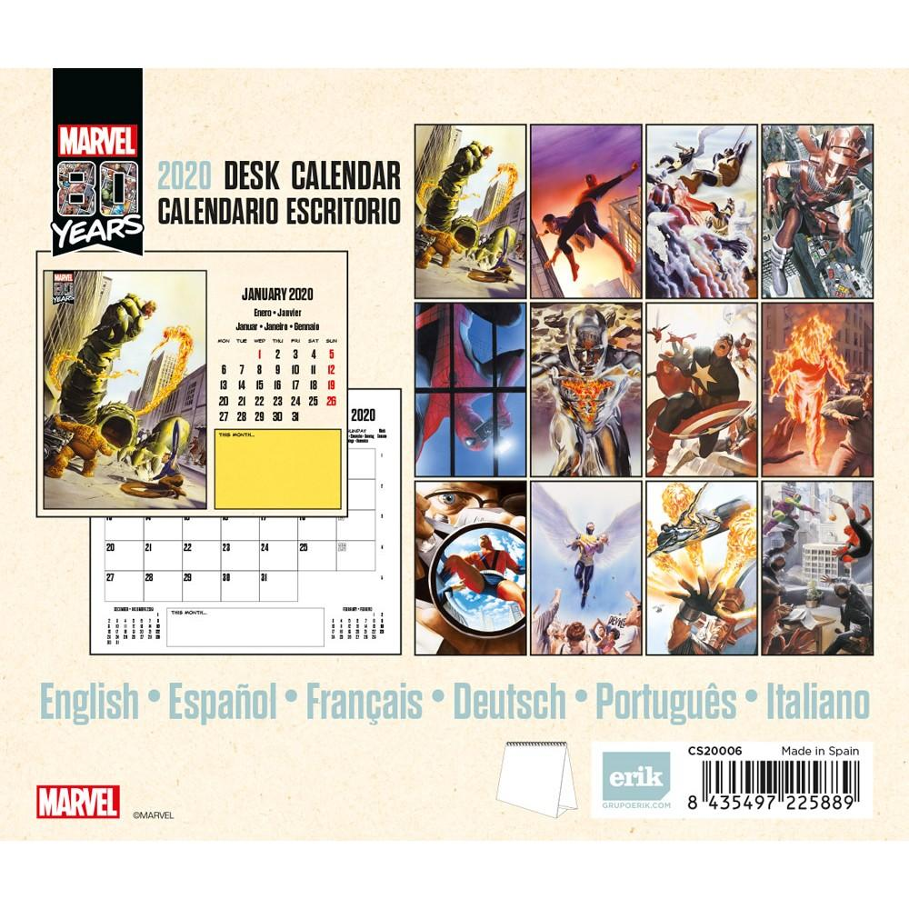 MARVEL COMICS 80 Years - Calendrier de bureau 2020 - 17x20_2