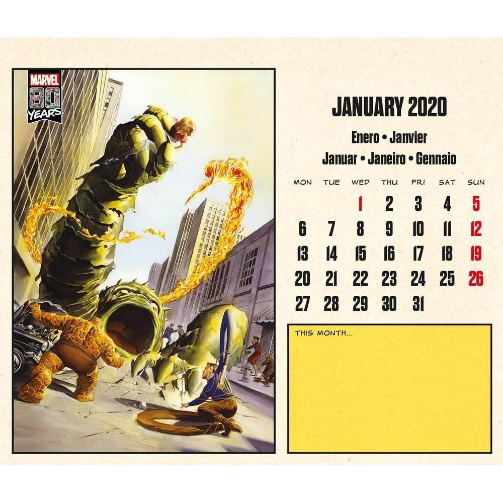 MARVEL COMICS 80 Years - Calendrier de bureau 2020 - 17x20_3