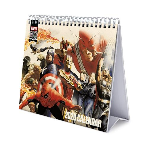 MARVEL COMICS 80 Years - Calendrier de bureau 2020 - 17x20