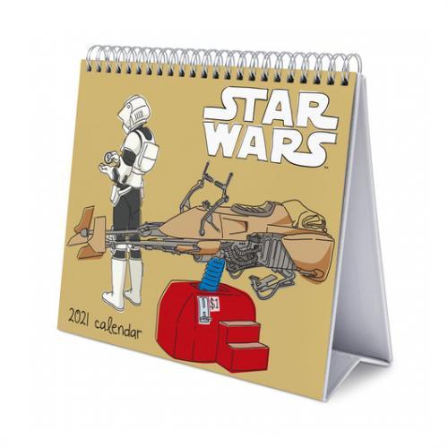 STAR WARS - Calendrier de bureau 2021 '17x20cm'