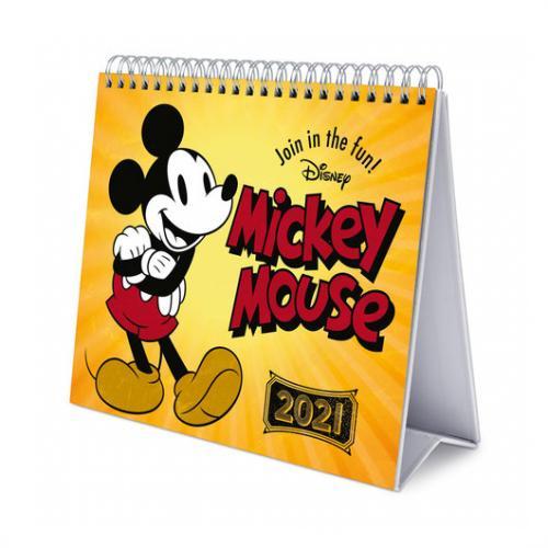 MICKEY MOUSE - Calendrier de bureau 2021 '17x20cm'