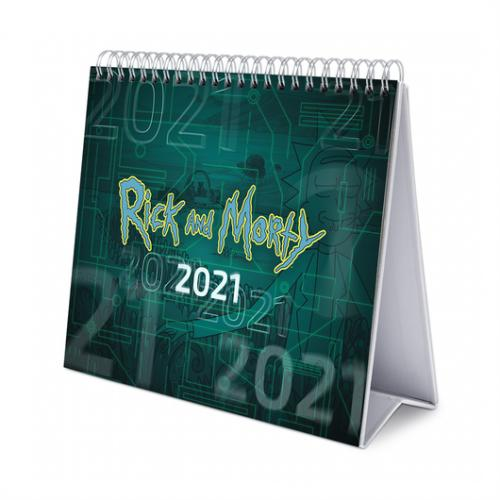 RICK & MORTY - Calendrier de bureau 2021 '17x20cm'