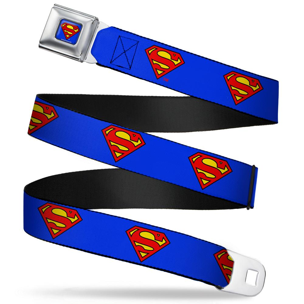 SUPERMAN - Ceinture (XL) - 81/132 - 3,8 Cm - Blue/Logo