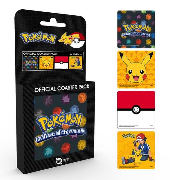 POKEMON - Pack de 4 Dessous de Verre - Mix