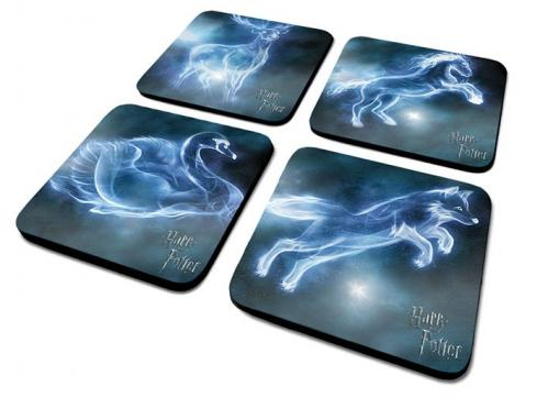 HARRY POTTER - Pack de 4 Dessous de Verre - Patronus