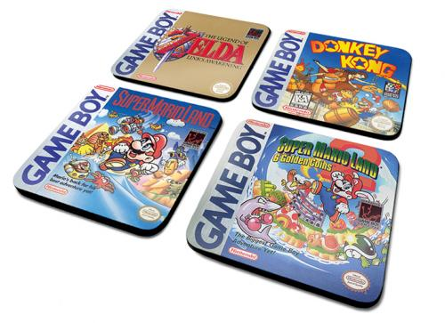NINTENDO - Pack de 4 Dessous de Verre - Gameboy Classic Collection