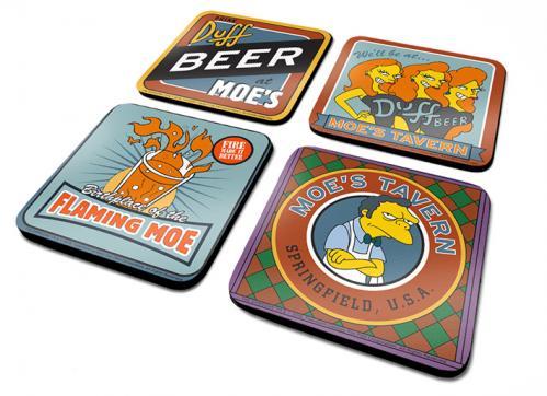 SIMPSONS - Pack de 4 Dessous de Verre - Moe's Tavern