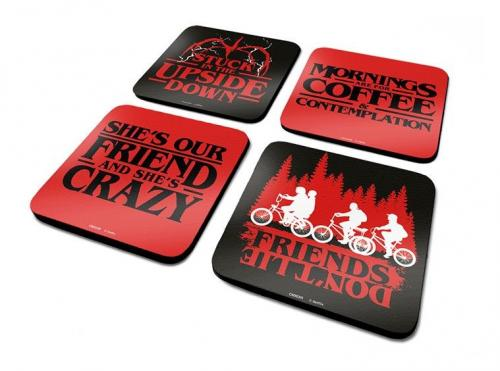 STRANGER THINGS - Pack de 4 Dessous de Verre - Phrases
