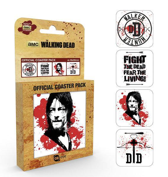WALKING DEAD - Pack de 4 Dessous de Verre - Daryl