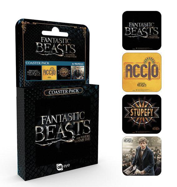 FANTASTIC BEASTS - Pack de 4 Dessous de Verre - Mix_2