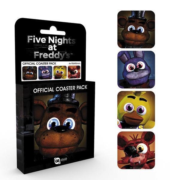 FIVE NIGHTS AT FREDDY'S - Pack de 4 Dessous de Verre - Characters