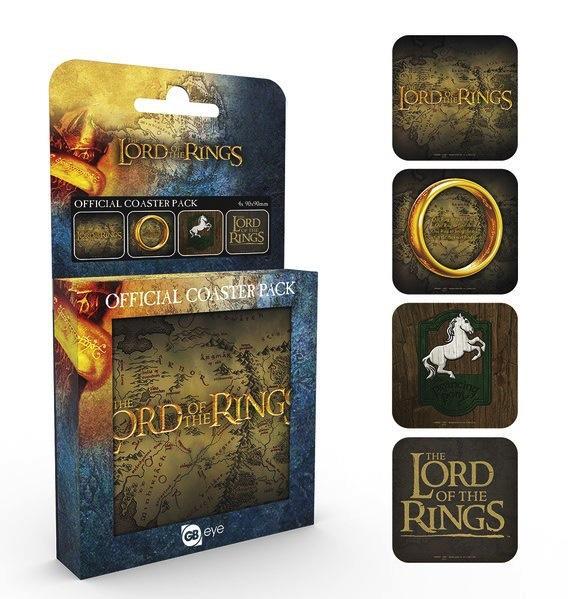 LORD OF THE RINGS - Pack de 4 Dessous de Verre - Mix