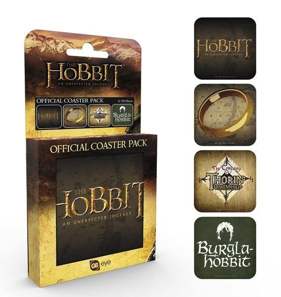 THE HOBBIT - Pack de 4 Dessous de Verre - Mix