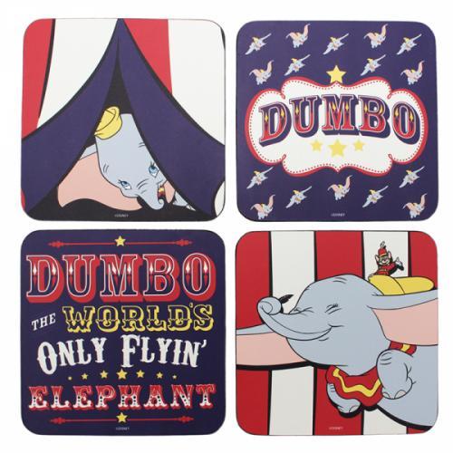 DISNEY - Set de 4 dessous de verre - Dumbo
