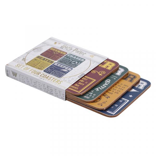 HARRY POTTER - Coaster Set of 4 - Quidditch