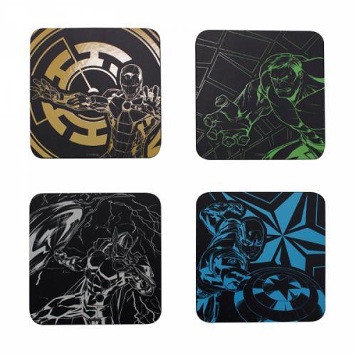 MARVEL - Avengers - Set de 4 dessous de verre