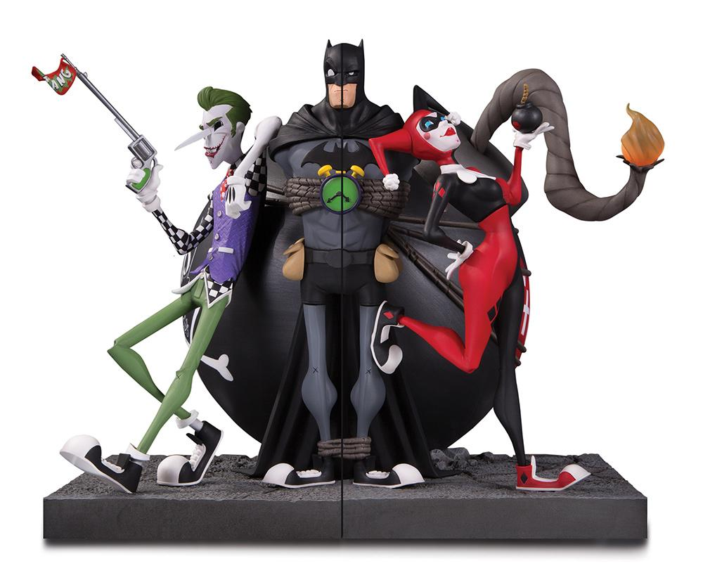 DC GALLERY - Joker and Harley Quinn Bookends - 20cm