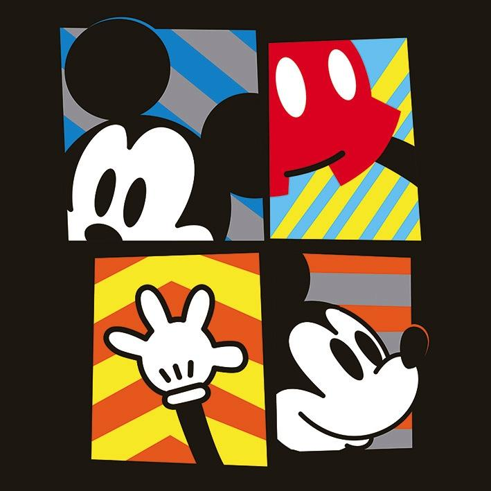 DISNEY - Canvas 40X40 '18mm' - Mickey Mouse Framed