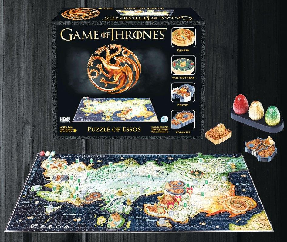 GAME OF THRONES - 3D Puzzle - Essos Map 1350 Pces