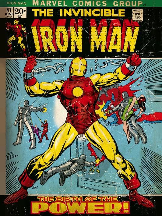 MARVEL COMICS - Canvas 30X40 '18mm' - Iron Man Birth of Power