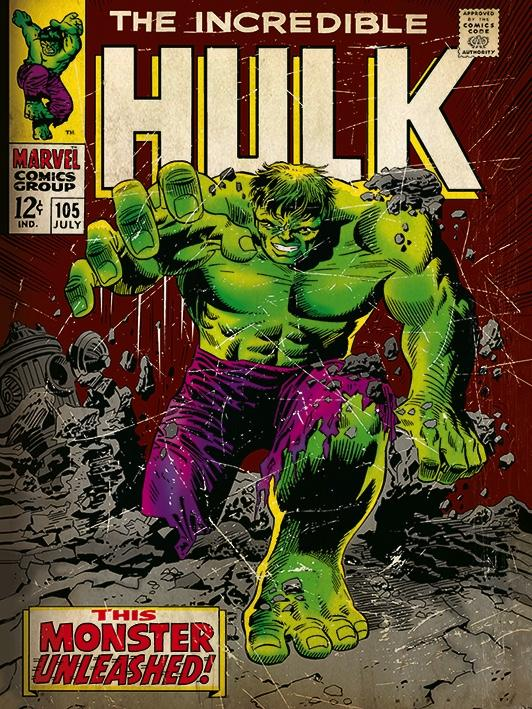 MARVEL COMICS - Canvas 30X40 '18mm' - Incredible Hulk Monster_1