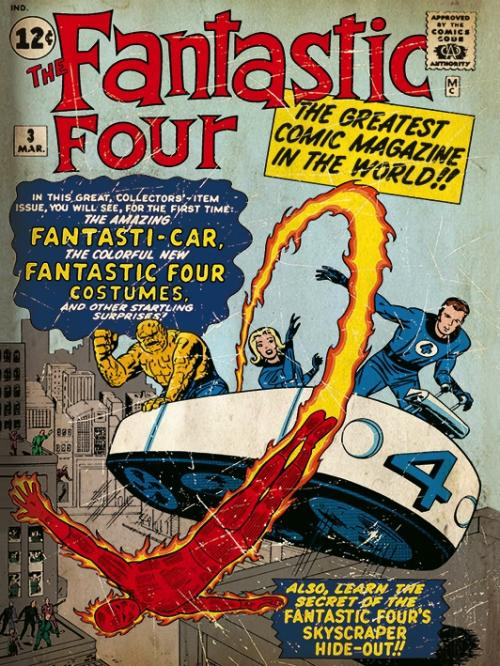 MARVEL COMICS - Canvas 30X40 '18mm' - Fantastic Four