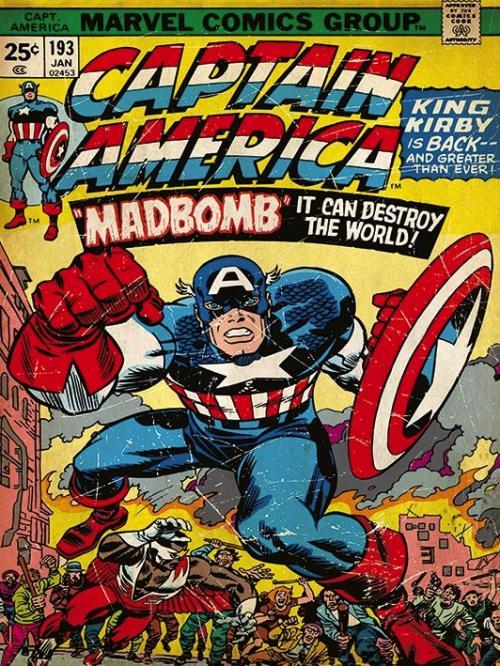 MARVEL COMICS - Canvas 30X40 '18mm' - Captain America Madbomb