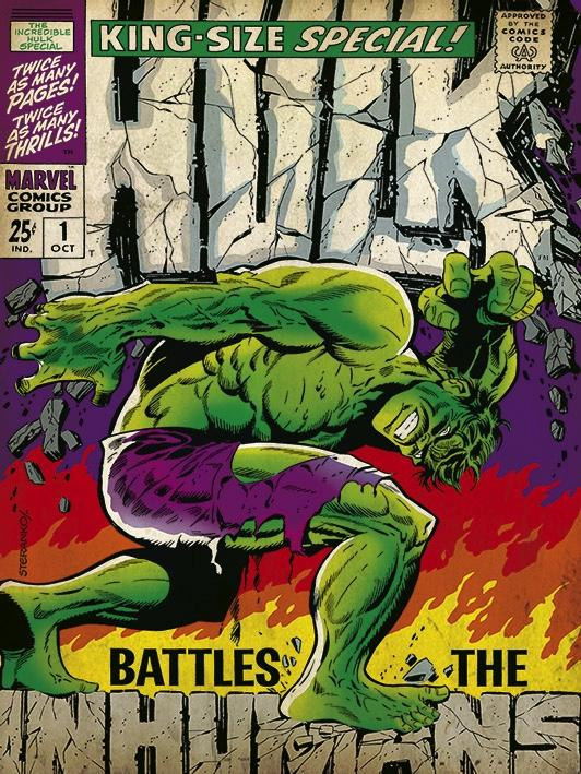 MARVEL COMICS - Canvas 30X40 '18mm' - Hulk Inhumans_1