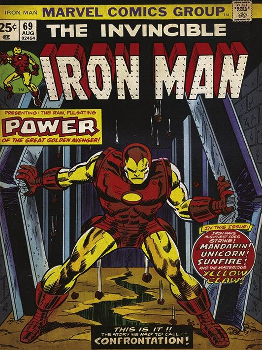 MARVEL COMICS - Canvas 30X40 '18mm' - Iron Man Power