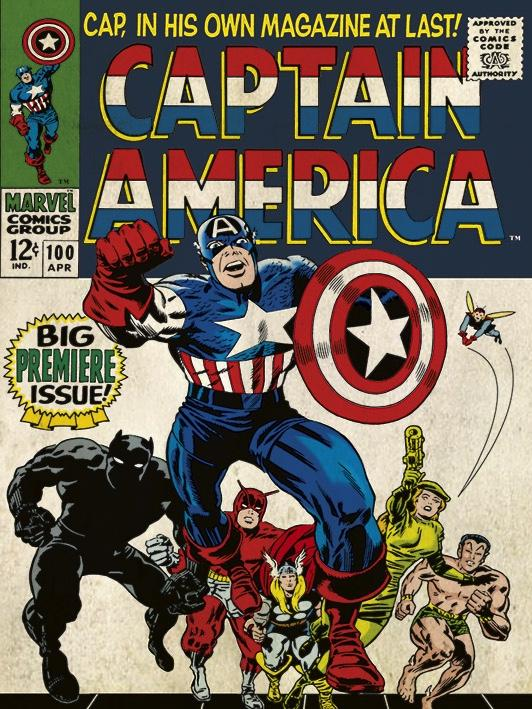 MARVEL COMICS - Canvas 30X40 '18mm' - Captain America Premier