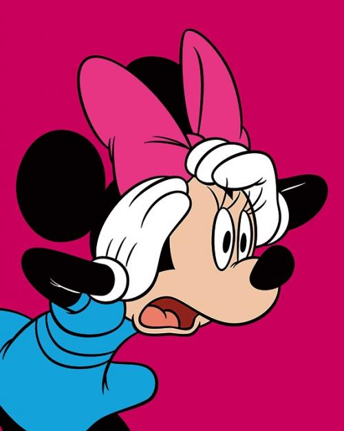 DISNEY - Canvas 40X50 '18mm' - Minnie Mouse Shocked