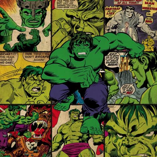 MARVEL COMICS - Canvas 40X40 '18mm' - Hulk Squares